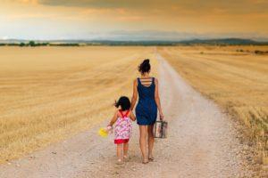 En partance avec enfant